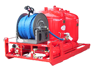 twin agent fire protection industrial system dry chemical afff