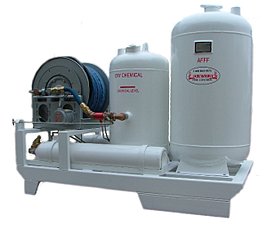 Twin-Agent Fire Protection Skid Foam and dry chemical afff