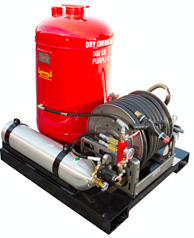 Dry Chemical Self Contained Skid Unit, Marine and Industrial Fire Protection
