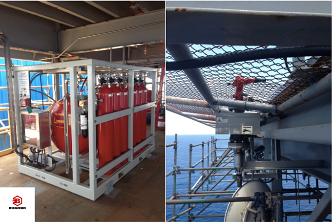 450 Gallon CAFS Helideck Fire Fighting System