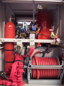 Oshkosh ARFF Storm Truck Burner Dry Chemical Industrial Fire Protection Systems