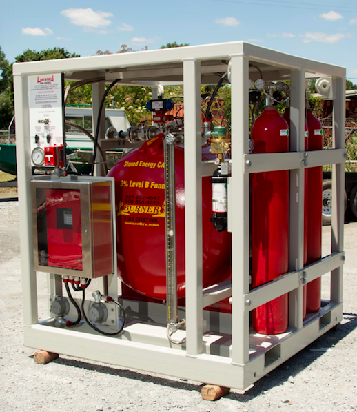 CAFS Heliport Jet Fuel Fire Fighting System