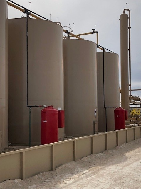 Wellsite Tank Battery Oil and Gas Facility Fire Fighting Foam Station