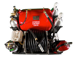 Compressed Air Foam CAFS 60 gallon military from Burner