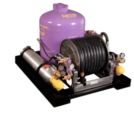 Dry Chemical Fire Fighting Skid Unit for Industrial, Marine, and Offshore Applications
